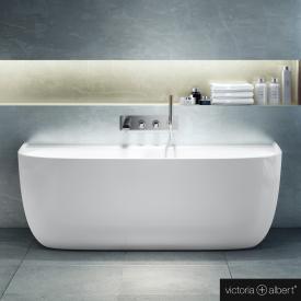 Victoria + Albert Eldon Sonderform-Badewanne weiß, ohne Überlauf