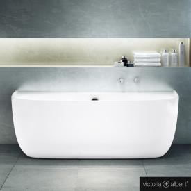 Victoria + Albert Eldon Vorwand-Badewanne mit Verkleidung weiß glanz/innen weiß glanz, mit Überlauf