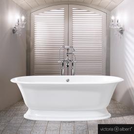 Victoria + Albert Elwick Freistehende Oval-Badewanne weiß glanz/innen weiß glanz