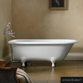 Victoria + Albert Hampshire freistehende-Badewanne weiß glanz/innen weiß glanz, mit weißen QUARRYCAST®  Füßen