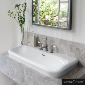 Victoria + Albert Lario 100 Solo Einbau-Waschtisch weiß, mit 3 Hahnlöchern