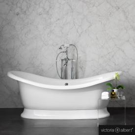 Victoria + Albert Marlborough freistehende Badewanne weiß glanz/innen weiß glanz