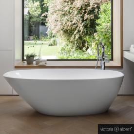 Victoria + Albert Mozzano freistehende Badewanne weiß glanz/innen weiß glanz