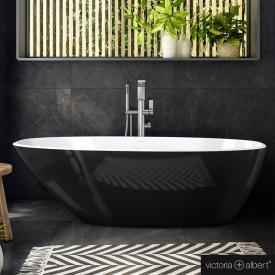 Victoria + Albert Mozzano freistehende Badewanne schwarz/weiß