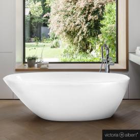Victoria + Albert Mozzano Freistehende Oval-Badewanne weiß glanz/innen weiß glanz