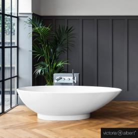 Victoria + Albert Napoli freistehende Badewanne weiß glanz/innen weiß glanz