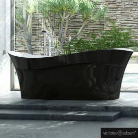 Victoria + Albert Pescadero freistehende Badewanne schwarz/weiß