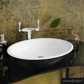 Victoria + Albert Radford 51 Aufsatzwaschtisch schwarz/weiß