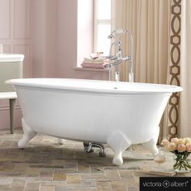 Victoria + Albert Radford freistehende Badewanne weiß, mit weißen Metall Füßen