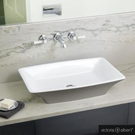 Victoria + Albert Ravello 60 Aufsatzwaschtisch steingrau matt/weiß
