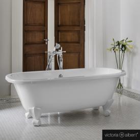 Victoria + Albert Richmond freistehende Badewanne weiß glanz/innen weiß glanz