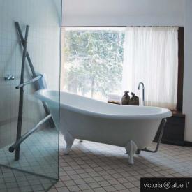 Victoria + Albert Roxburgh freistehende Badewanne weiß, mit weißen QUARRYCAST®  Füßen