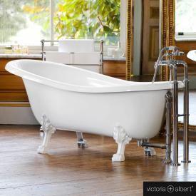 Victoria + Albert Roxburgh Freistehende Oval-Badewanne weiß glanz/innen weiß glanz, mit weißen Metall Füßen