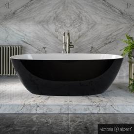 Victoria & Albert Terrassa freistehende Badewanne schwarz/weiß