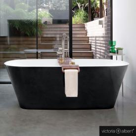 Victoria + Albert Vetralla 2 freistehende Badewanne schwarz/weiß