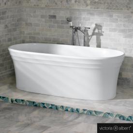 Victoria + Albert Warndon freistehende Badewanne weiß
