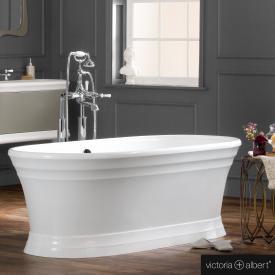 Victoria + Albert Worcester freistehende Badewanne weiß