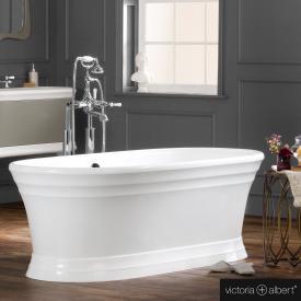 Victoria + Albert Worcester Freistehende Oval Badewanne weiß glanz/innen weiß glanz