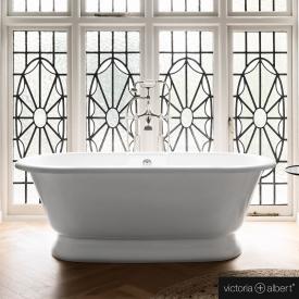 Victoria + Albert York Freistehende Oval-Badewanne weiß glanz/innen weiß glanz