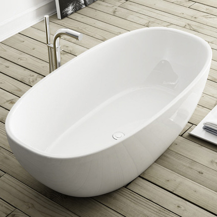 Victoria + Albert Barcelona freistehende Badewanne weiß - BAR-N-SW ... | {Freistehende badewanne maße 63}