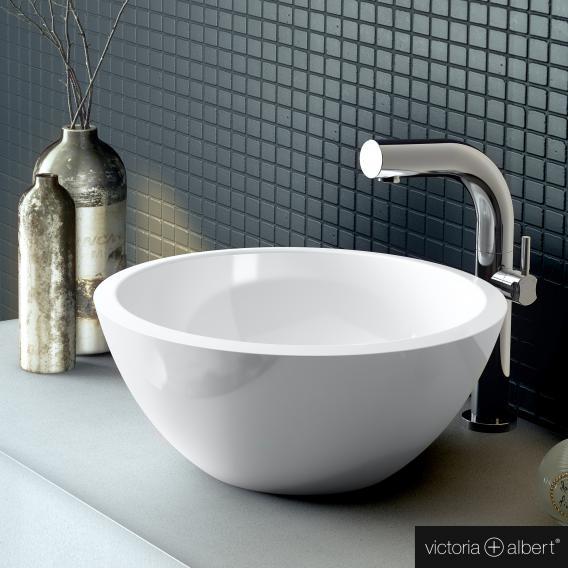 Victoria + Albert Maru 42 Aufsatzwaschtisch weiß glanz/innen weiß glanz