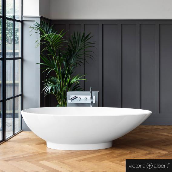 Victoria + Albert Napoli Freistehende Oval-Badewanne weiß glanz/innen weiß glanz