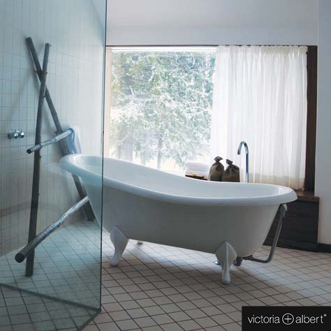 Victoria + Albert Roxburgh freistehende Badewanne weiß, mit ...