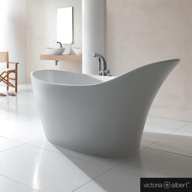 Victoria + Albert Amalfi Freistehende Oval-Badewanne weiß matt/innen weiß matt