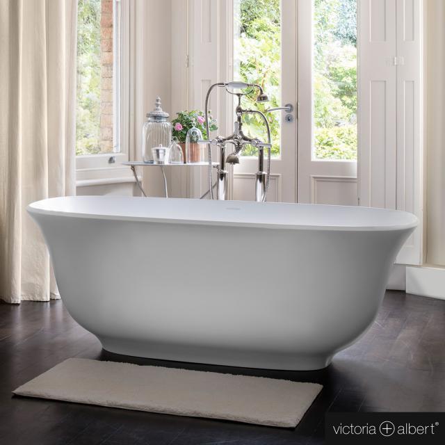 Victoria + Albert Amiata Freistehende Oval-Badewanne weiß matt/innen weiß matt
