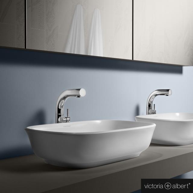 Victoria + Albert Amiata 60 Aufsatzwaschtisch weiß glanz/innen weiß glanz