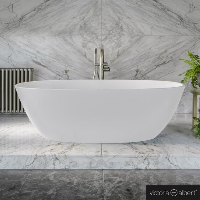 Victoria + Albert Barcelona Freistehende Oval-Badewanne weiß matt/innen weiß matt