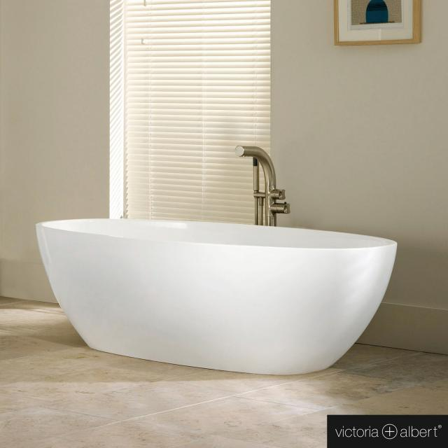 Victoria + Albert Barcelona Classic Freistehende Oval-Badewanne weiß glanz/innen weiß glanz