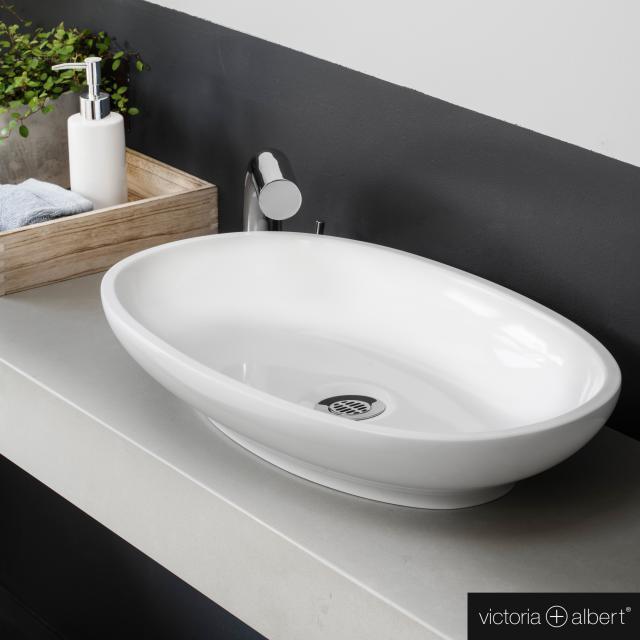 Victoria + Albert Cabrits 55 Aufsatzwaschtisch weiß glanz/innen weiß glanz