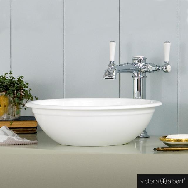 Victoria + Albert Drayton 40 Aufsatzwaschtisch weiß glanz/innen weiß glanz