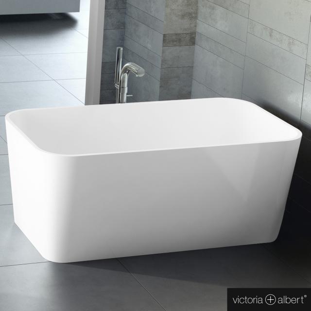 Victoria + Albert Edge Freistehende Rechteck-Badewanne weiß glanz/innen weiß glanz