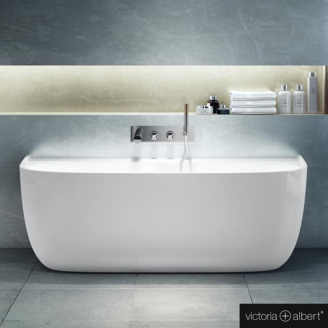 Victoria + Albert Eldon Vorwand-Badewanne mit Verkleidung weiß glanz/innen weiß glanz, ohne Überlauf