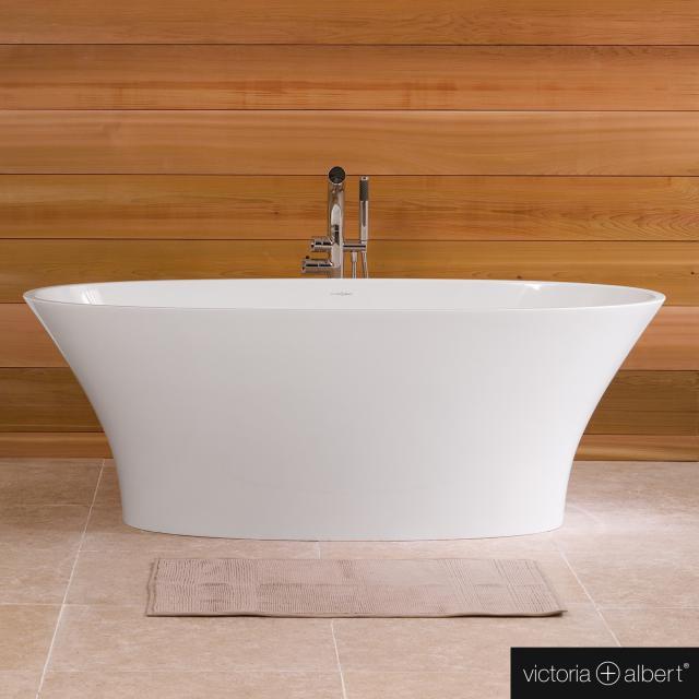 Victoria + Albert Ionian  Freistehende Oval-Badewanne weiß glanz/innen weiß glanz