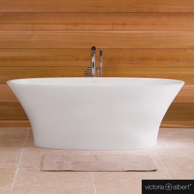 Victoria + Albert Ionian  Freistehende Oval-Badewanne weiß matt/innen weiß matt