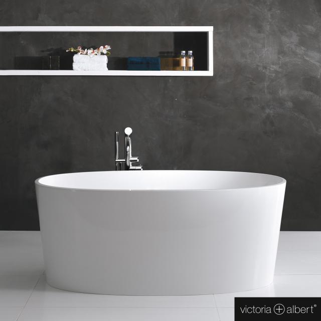 Victoria + Albert Ios Freistehende Oval-Badewanne weiß glanz/innen weiß glanz