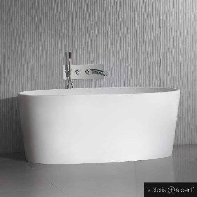 Victoria + Albert Ios Freistehende Oval-Badewanne weiß matt/innen weiß matt