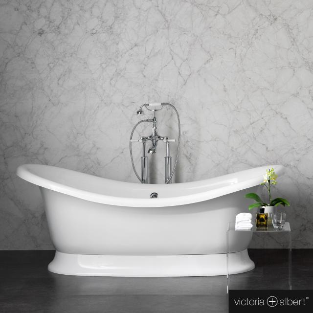 Victoria + Albert Marlborough Freistehende Oval-Badewanne weiß glanz/innen weiß glanz