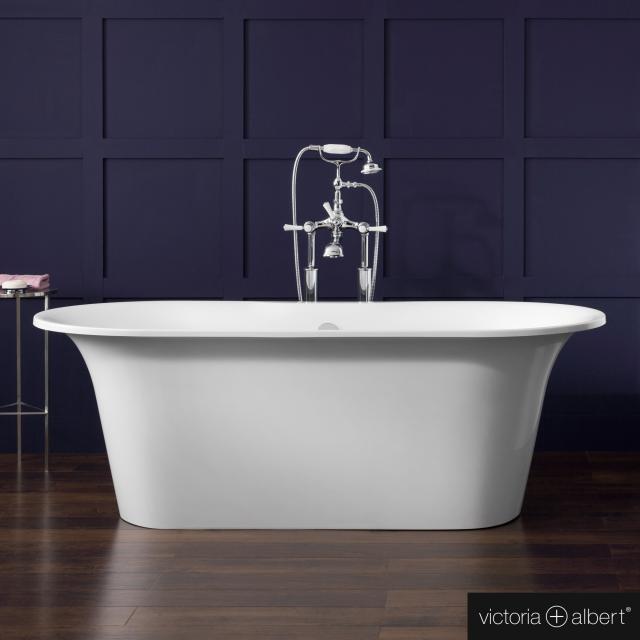 Victoria + Albert Monaco Freistehende Oval-Badewanne weiß glanz/innen weiß glanz