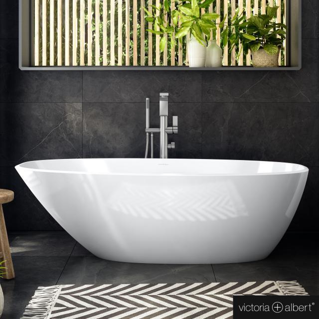Victoria + Albert Mozzano 2 Freistehende Oval-Badewanne weiß glanz/innen weiß glanz