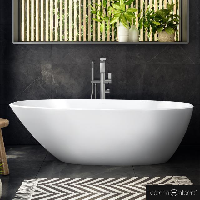 Victoria + Albert Mozzano 2 Freistehende Oval-Badewanne weiß matt/innen weiß matt