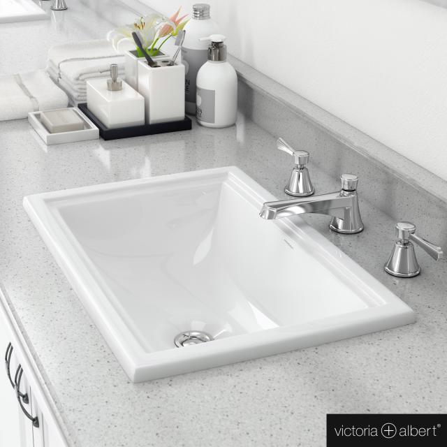 Victoria + Albert Pembroke 52 Einbau-Waschtisch weiß