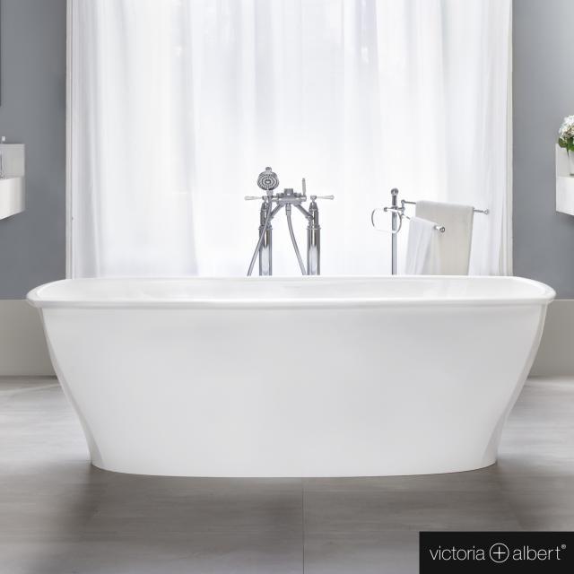 Victoria + Albert Pembroke Freistehende Rechteck-Badewanne weiß glanz/innen weiß glanz