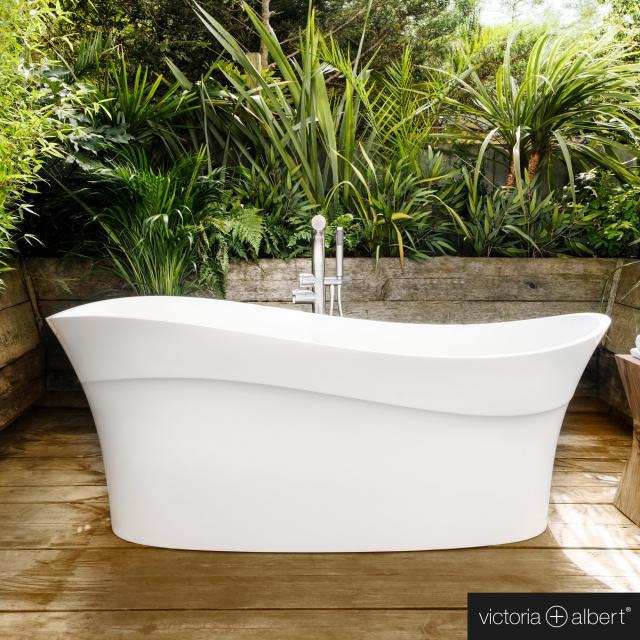 Victoria + Albert Pescadero Freistehende Oval-Badewanne weiß glanz/innen weiß glanz
