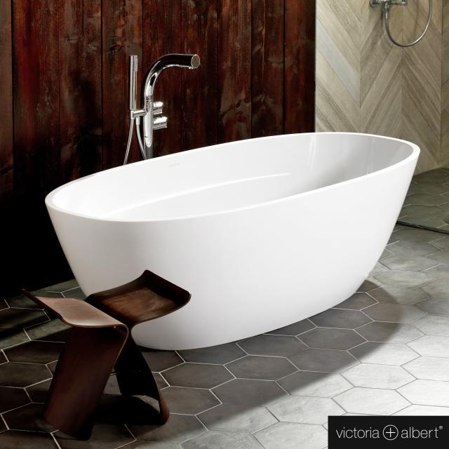 Victoria + Albert Terrassa Freistehende Oval-Badewanne weiß glanz/innen weiß glanz