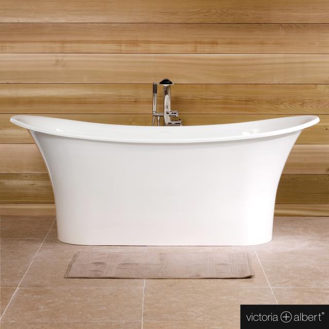 Victoria + Albert Toulouse Freistehende Oval-Badewanne weiß glanz/innen weiß glanz