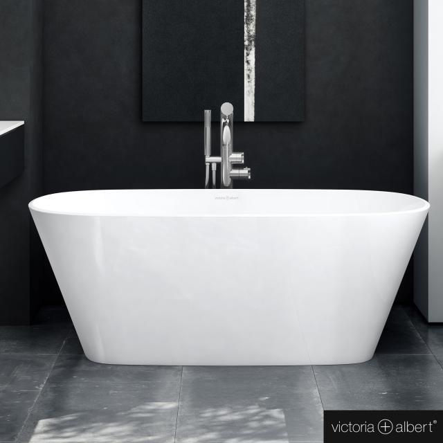 Victoria + Albert Vetralla 1500 Freistehende Oval-Badewanne weiß glanz/innen weiß glanz